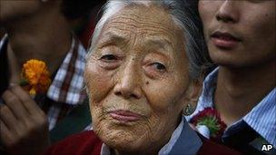 Elderly Tibetan lady