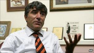 Archive photo of Hrant Dink in Istanbul, November 2006