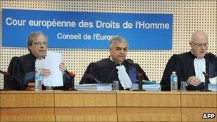 European Court judges in Strasbourg - file pic