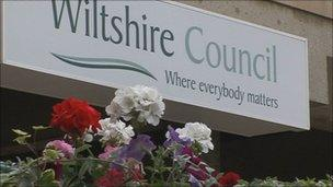 Wiltshire Council sign