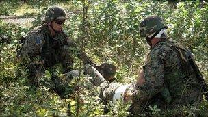 Bosnian soldiers training for Nato mission