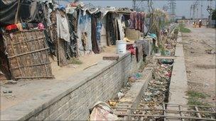 A slum near Delhi