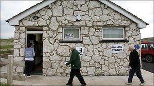 Rathlin Polling station