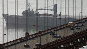 Traffic on the Golden Gate bridge (file pic)