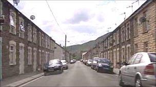 A street in the Rhondda