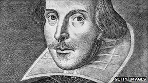 Engraving of William Shakespeare by Droeshout, 1623