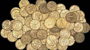The gold coins found in Hackney