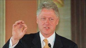 President Clinton in 2000