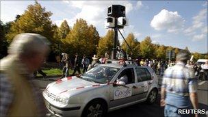 Google Street View camera car, AFP