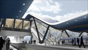 Plans for Reading railway station.