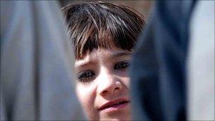 Child in Mukhtar camp