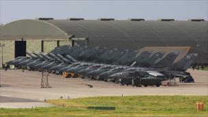 Tornado jets at RAF Lossiemouth