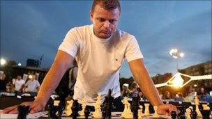 Israeli grandmaster Alik Gershon in Tel Aviv