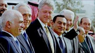 Middle East peace summit at Sharm el-Sheik 1996