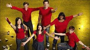 Stars of the TV series Glee