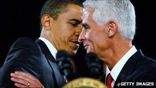 Barack Obama and Charlie Crist
