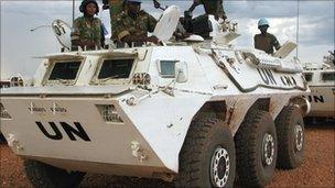 UN peacekeepers in Abyei, pictured in 2008