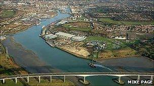 The River Orwell at Ipswich