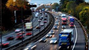 Congested motorway (generic image)
