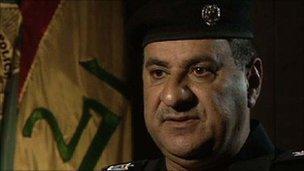 Gen Jihad al-Jaberi, head of Iraq's bomb squad