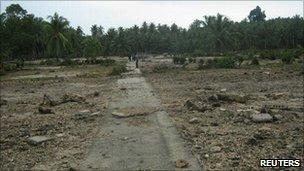 The remains of Muntei Baru Baru village on the Mentawai islands - 26 October 2010