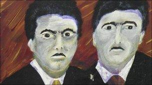Kray portrait by Graham Young