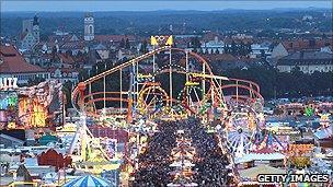 Munich during Oktoberfest