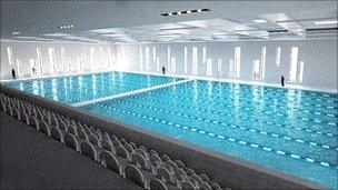 Artist's impression of the pool