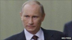 Russian Prime Minister Vladimir Putin in Moscow, 26 October