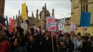 Protesters in Oxford