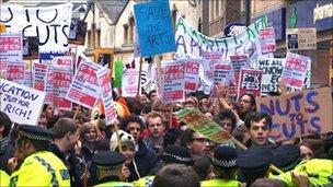 Demonstrators in Oxford