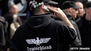 Neo-Nazi rally in Berlin. May 2010