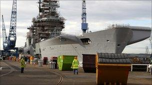 HMS Illustrious at Rosyth