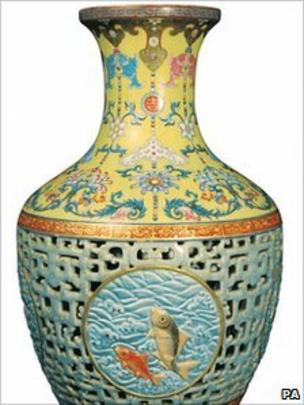 Qianlong Chinese Porcelain Vase Sold For 43m Bbc News