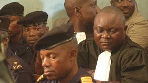 Some of the policeman in court