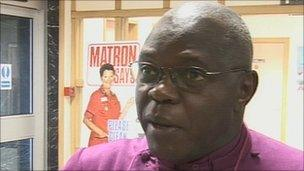Archbishop of York at the West Cumberland Hospital