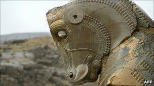 Horse sculpture in Persepolis, AFP/Getty