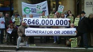 Campaigners against incinerator