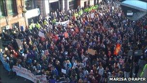 Large crowds in Manchester