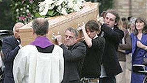 David Foulkes' funeral