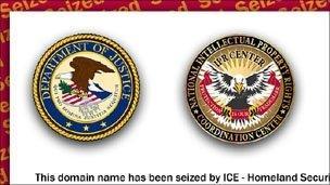 Screengrab of seizure page, ICE