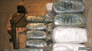 Drugs haul found in a tunnel under the Mexico-US border in Tijuana
