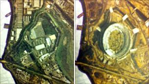 Two maps of Olympic site