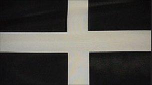 The Cornish St Piran flag