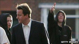 David Cameron on walkabout in Manchester