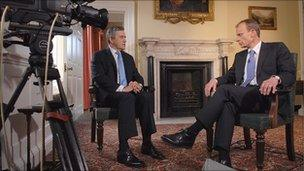 Gordon Brown telling BBC's Andrew Marr there will not be an election