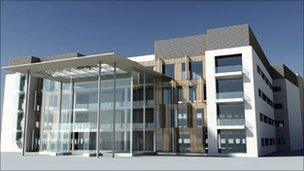 Image of planned redevelopment of the Royal National Orthopaedic Hospital