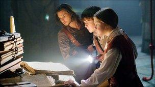 Ben Barnes, Skandar Keynes and Georgie Henley in The Chronicles of Narnia: The Voyage of the Dawn Treader