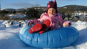 Sledging in Inverness, December 2010