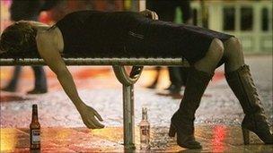 Generic drunk woman